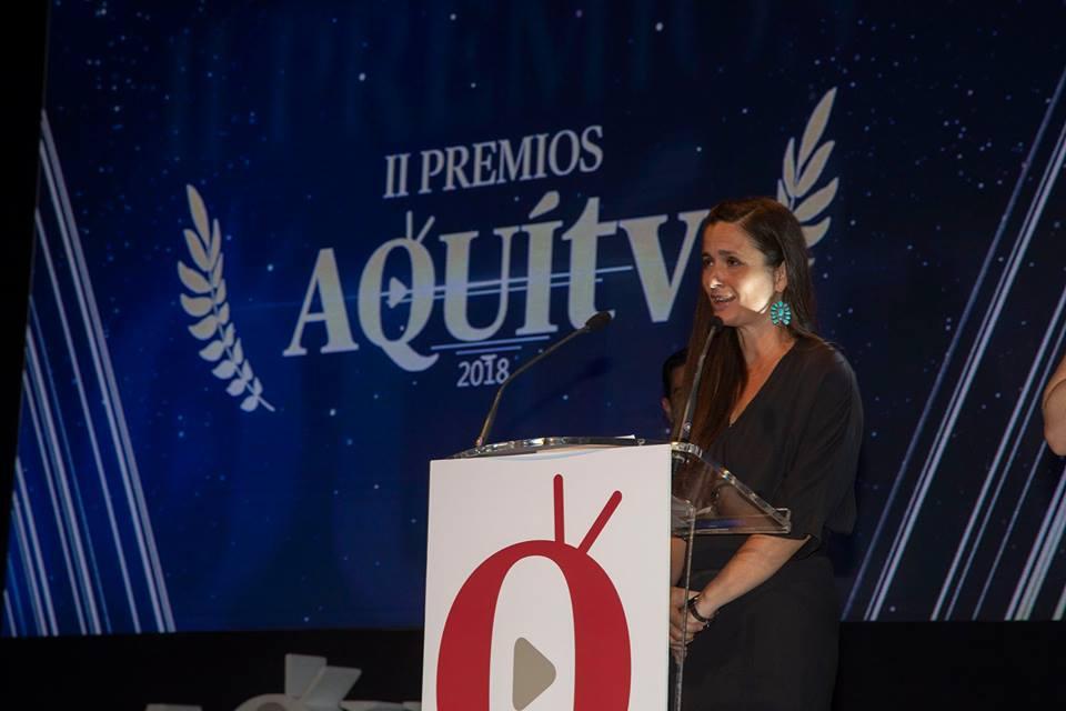 Pepa Ibáñez, en la gala de los Premios Aquí TV